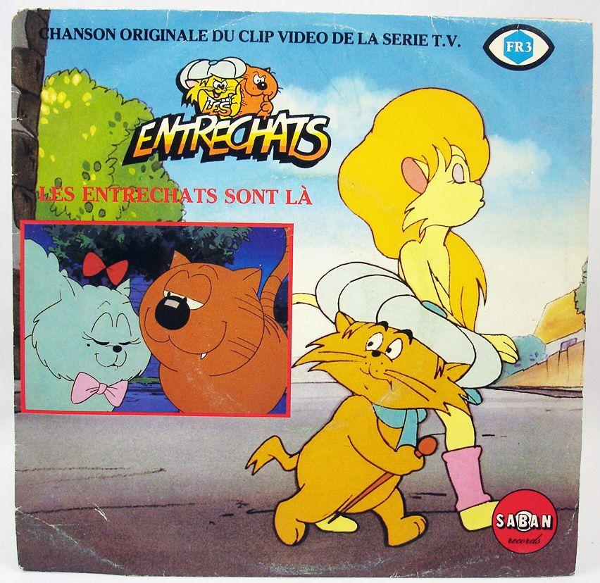 Les Entrechats - Disque 45T- Chanson Originale de la Série TV - Saban Records 1985
