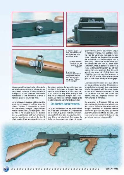 Les Incorruptibles - Mitraillette Thompson Drum Rifle 1928 (Air Soft Gun) - CyberGun ref.430750