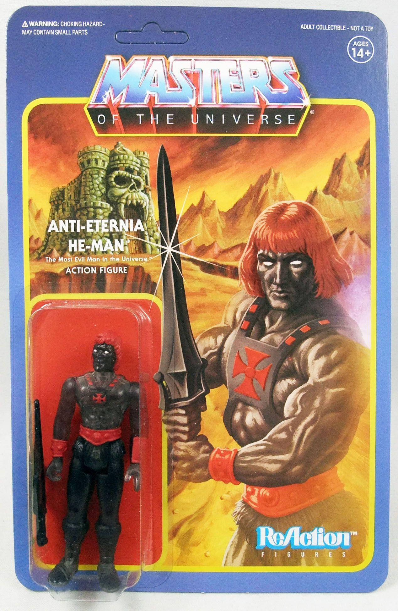 """Les Maitres de l\'Univers - Figurine 10cm Super7 - Anti-Eternia He-Man \""""clear\"""""""