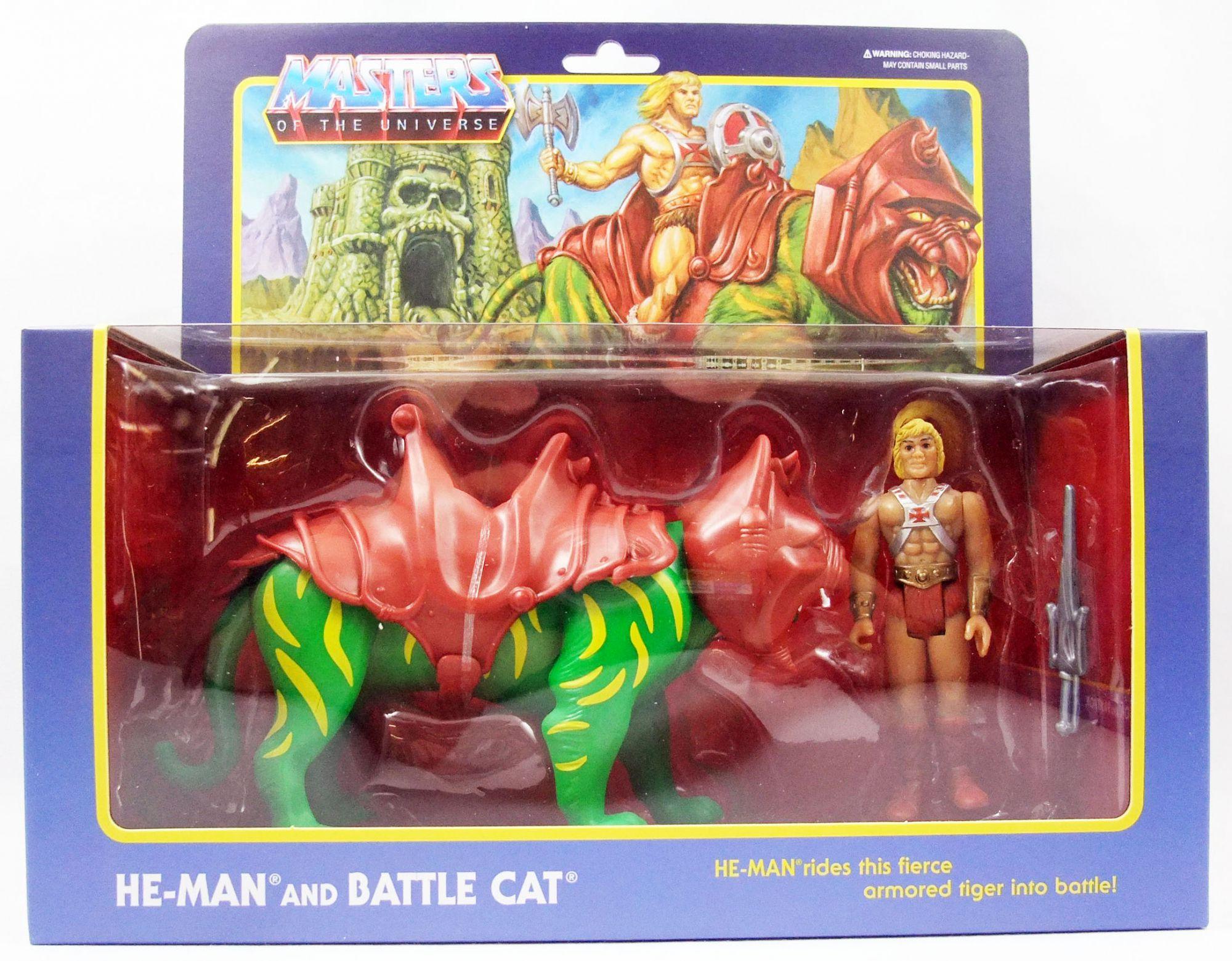 Les Maitres de l\'Univers - Figurine 10cm Super7 - He-Man & Battle Cat