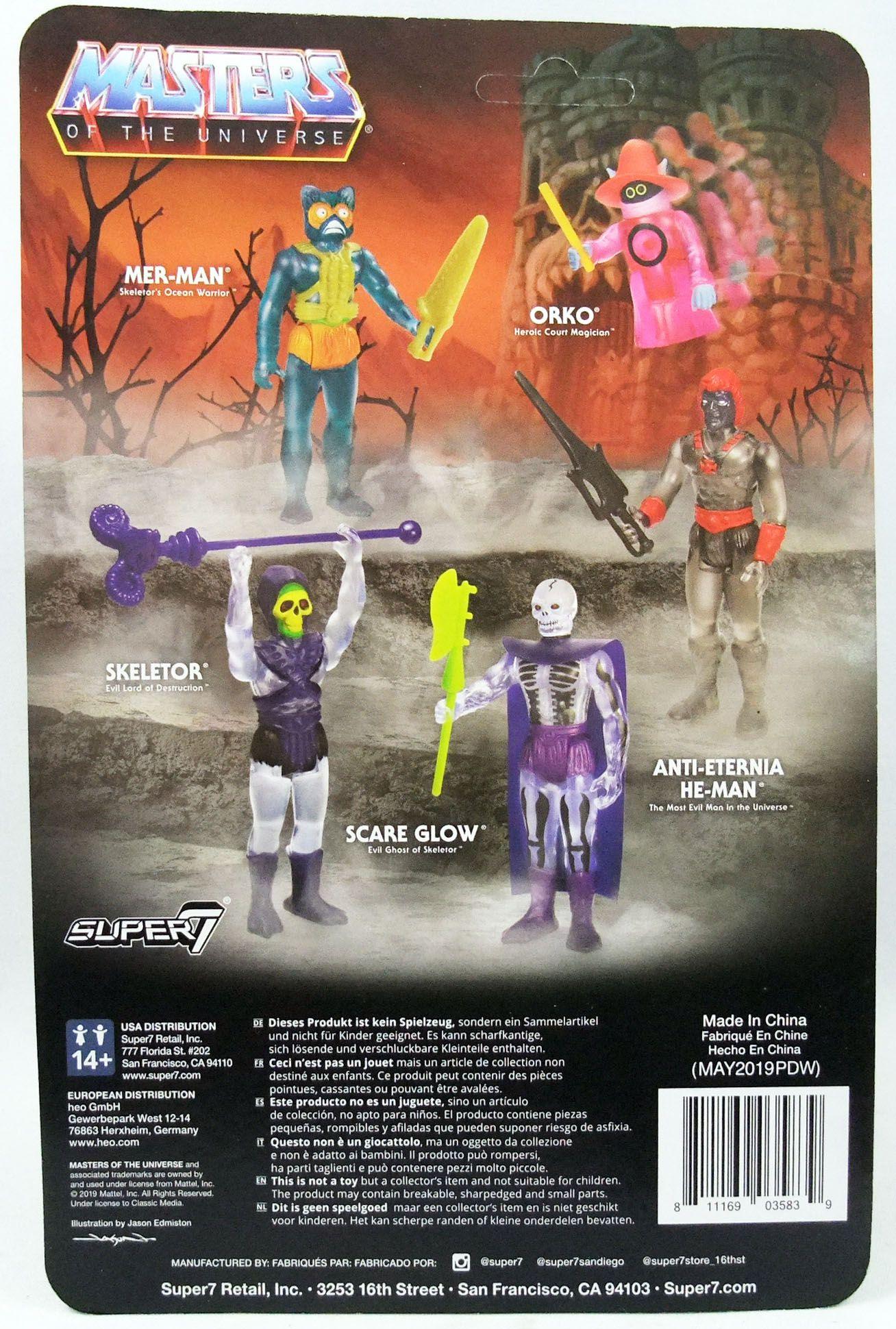 """Les Maitres de l\'Univers - Figurine 10cm Super7 - Mer-Man \""""clear\"""""""