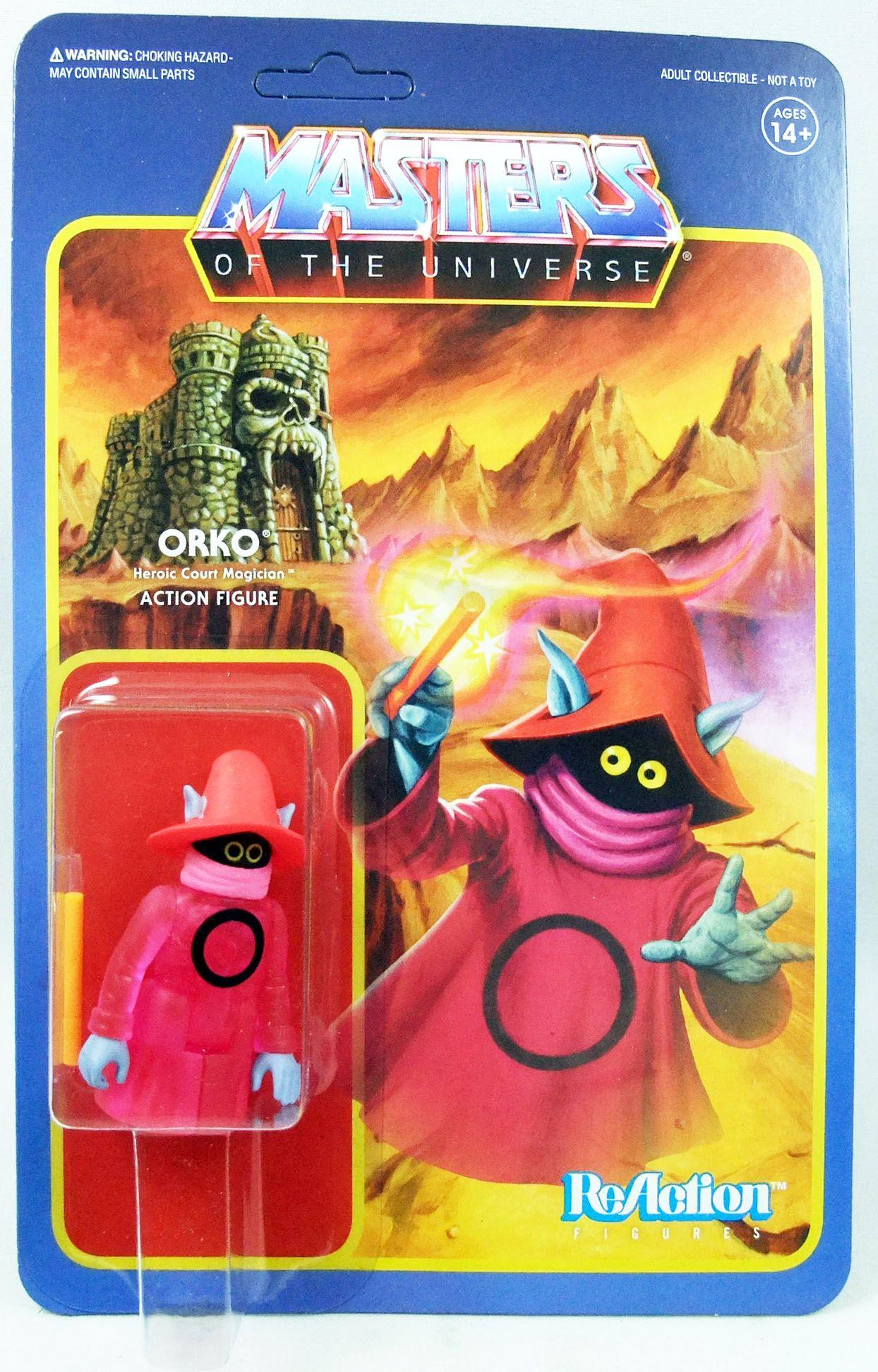 """Les Maitres de l\'Univers - Figurine 10cm Super7 - Orko \""""clear\"""""""