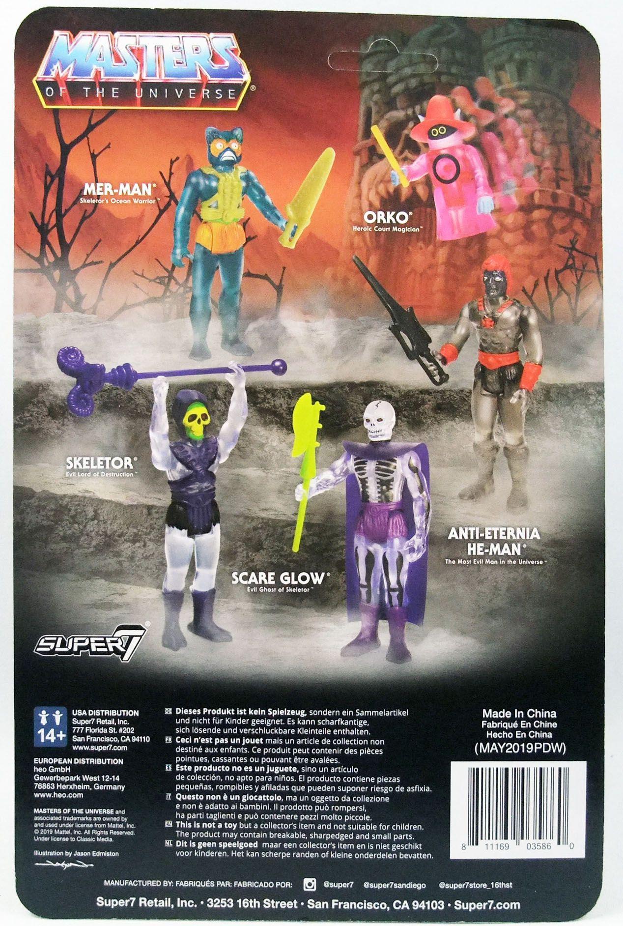 """Les Maitres de l\'Univers - Figurine 10cm Super7 - Scare Glow \""""Clear\"""""""