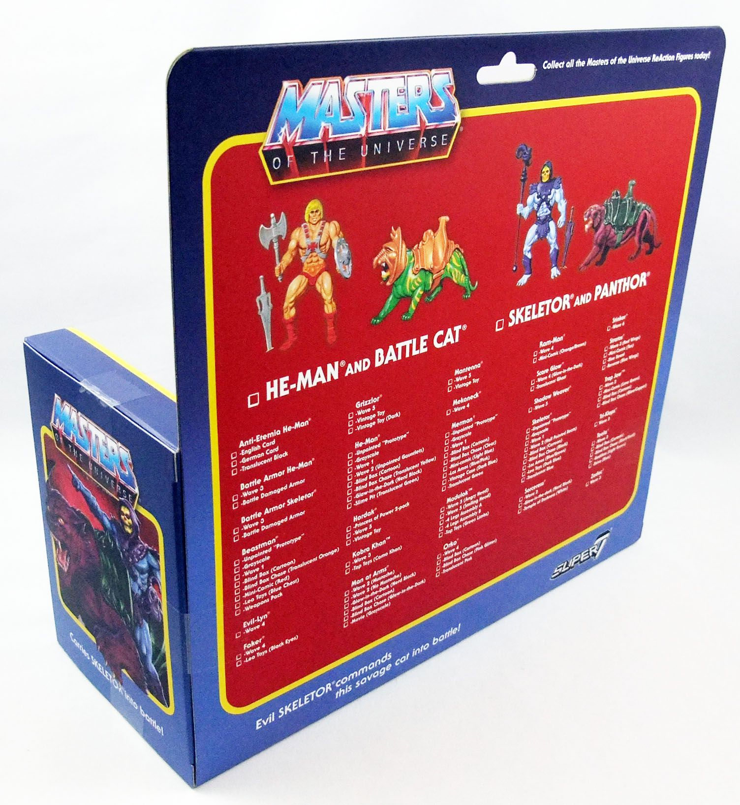 Les Maitres de l\'Univers - Figurine 10cm Super7 - Skeletor & Panthor