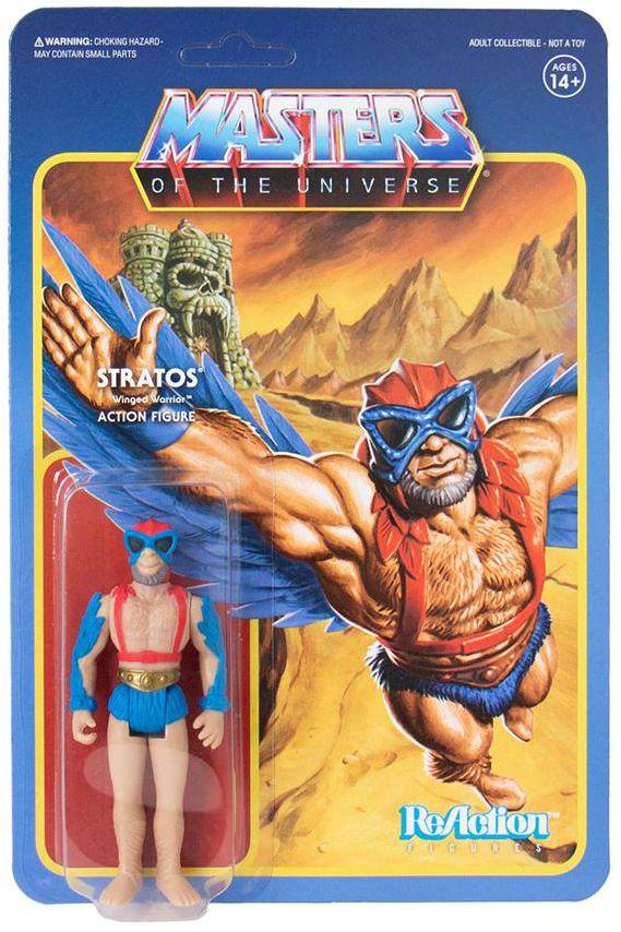 """Les Maitres de l\'Univers - Figurine 10cm Super7 - Stratos \""""mini-comics colors\"""" (Power-Con Exclusive)"""