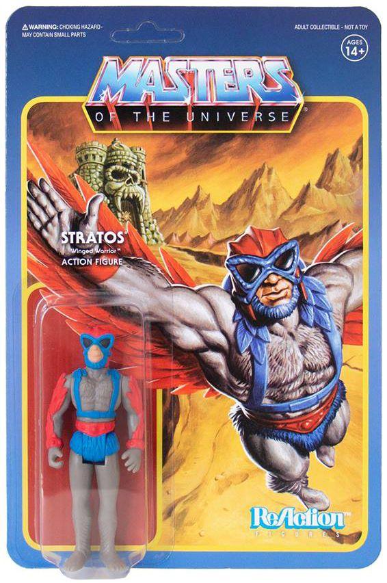 """Les Maitres de l\'Univers - Figurine 10cm Super7 - Stratos \""""original toy colors\"""" (Power-Con Exclusive)"""