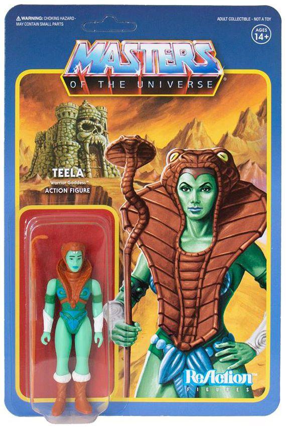 """Les Maitres de l\'Univers - Figurine 10cm Super7 - Teela \""""The Goddess colors\"""" (Power-Con Exclusive)"""