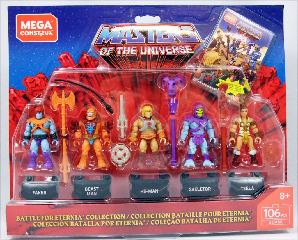 Les Maitres de l\'Univers - Mega Construx Heroes - Battle for Eternia 5-pack