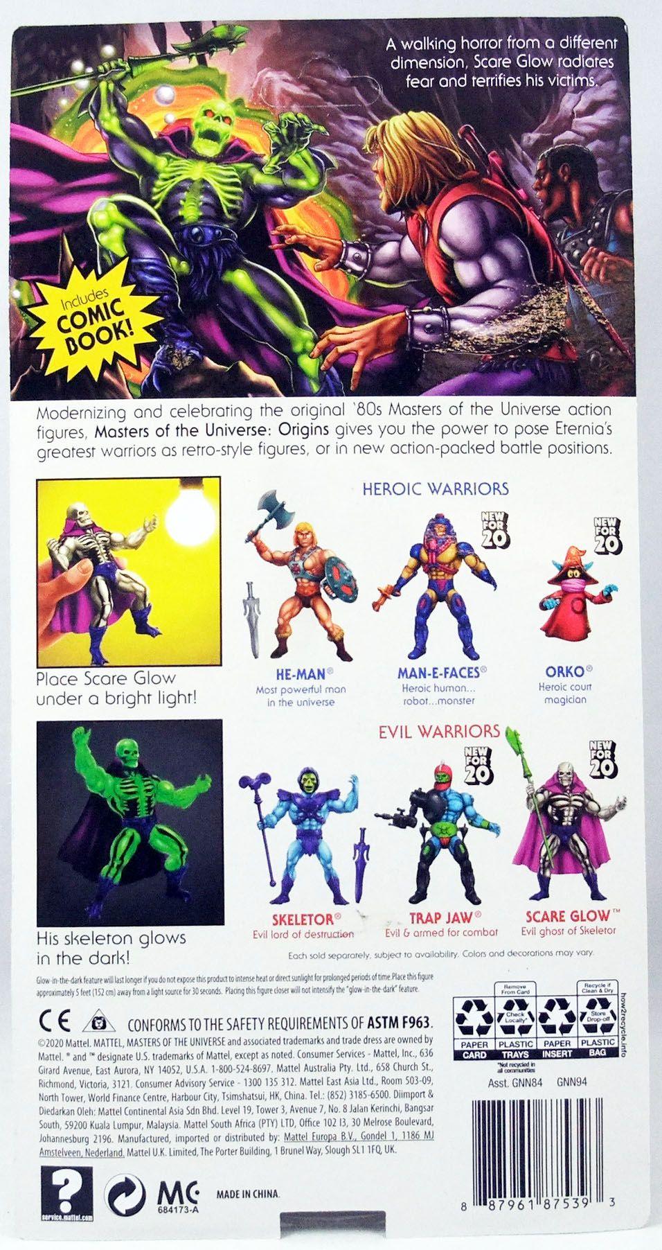 Les Maitres de l\'Univers Origins - Scare Glow / Spectror (Version USA)