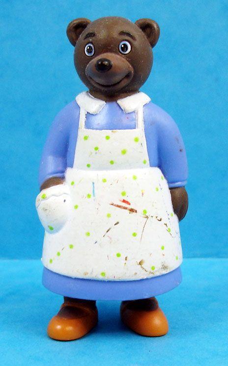 les mondes de petit ours brun figurine pvc bayard presse maman ours brun en tablier. Black Bedroom Furniture Sets. Home Design Ideas