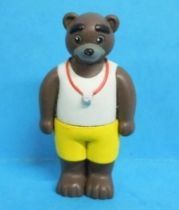 Les mondes de Petit Ours Brun - Figurine PVC Bayard Presse - Papa Ours Brun maître nageur