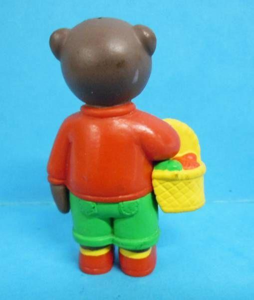 Les mondes de Petit Ours Brun - Figurine PVC Bayard Presse - Petit Ours Brun et son panier