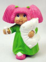 Les Patoufs - Figurine PVC 1984 - Fille avec oreiller