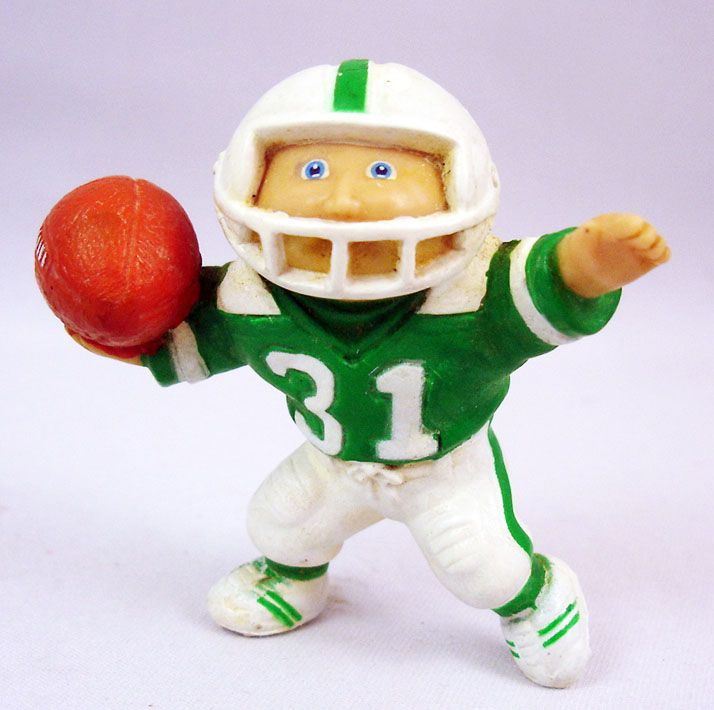 Les Patoufs - Figurine PVC 1984 - Garçon joueur de football americain