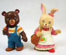 Les Petits Malins (Maple Town) - Figurines pvc Comics Spain - Bobby l\'ours & Patty la lapine
