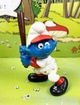 Les Schtroumpfs - Schleich - 20129 Schtroumpf Baseballeur (sans numéro)