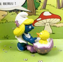 Les Schtroumpfs - Schleich - 20489 Schtroumpfette oeuf de Pâques et oiseau