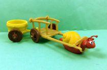 Les Schtroumpfs - Schleich - 40100 L\'escargot avec chariot accessoires n°8 (occasion)