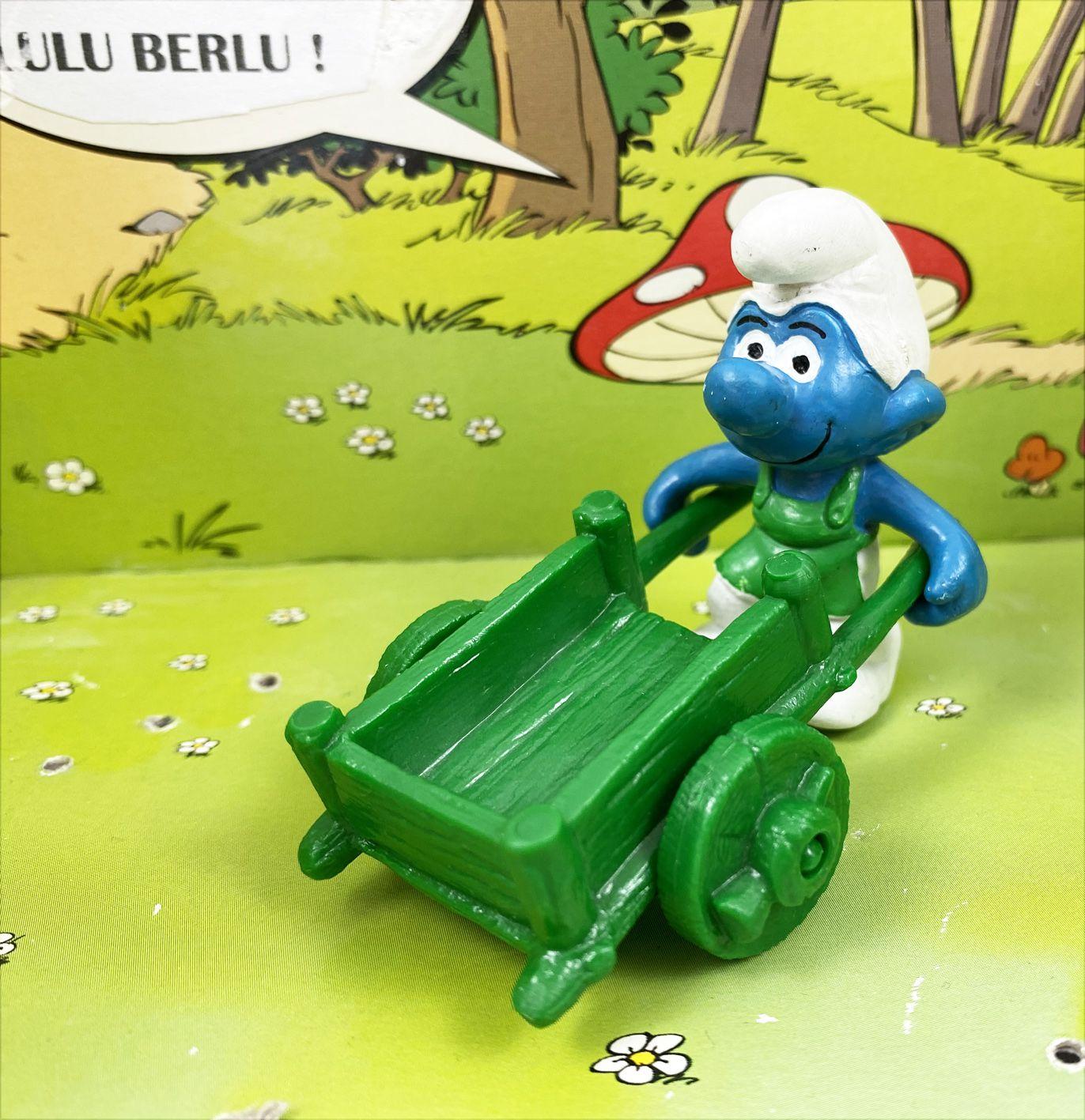 Les Schtroumpfs - Schleich - 40206 Schtroumpf jardinier avec brouette (verte)