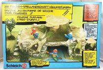 """Les Schtroumpfs - Schleich - 41000 La Souche (Paysage/Display) \""""Baumstumpf\"""""""