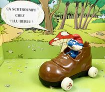 Les Schtroumpfs - Voiture métal Esci - Voiture chaussure du Grand schtroumpf (occasion)