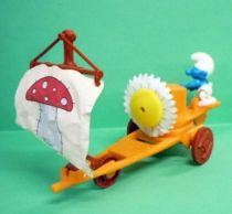 Les Schtroumpfs Maxi Kinder - Ferrero - Le Char à Voile Schtroumpf