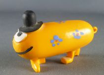 Les Shadoks - Figurine Jim - Gibi à 4 pattes jaune orangé fleurs bleues