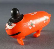 Les Shadoks - Figurine Jim - Gibi à 4 pattes orange fleurs vertes