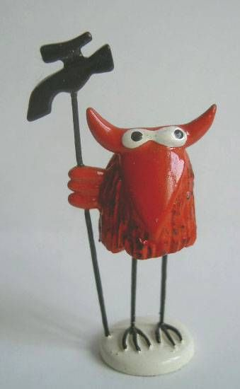 Les Shadoks - Shadock red sorcer figure Pixi