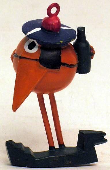 Les Shadoks -Jim Figure - Shadok sailor (tangerine)