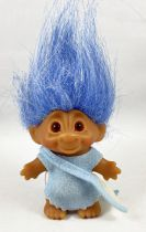 Les Trolls - Figurine Plastique 15cm (Thomas Dam) - Troll cheveux bleu