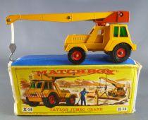 Lesney Matchbox King Size K-14 Taylor Jumbo Crane with Box