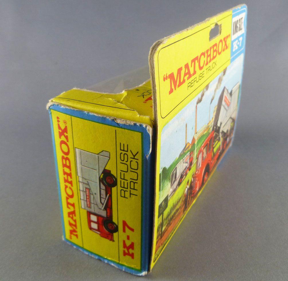 Lesney Matchbox King Size K-7 Refuse Truck Mint in Box