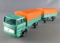 Lesney Matchbox N° 1 + N° 2 Camion Mercedes & remorque Bachée