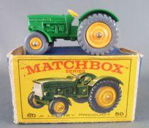 Lesney Matchbox N° 50 John Deer Farm Tractor with Box