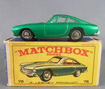 Lesney Matchbox N° 75 Ferrari Berlinetta Green Metalised with Box
