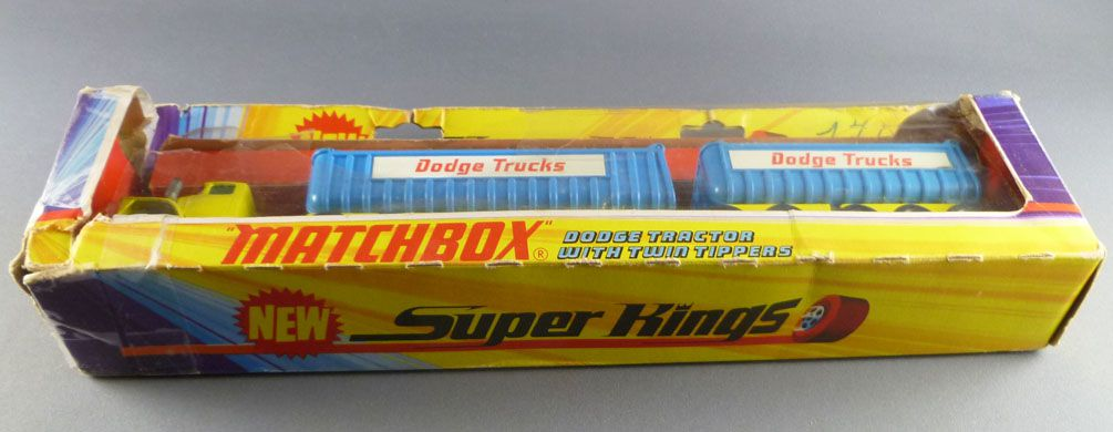 Lesney Matchbox Super King K-16 Dodge Tractor & Twin Tippers with Box
