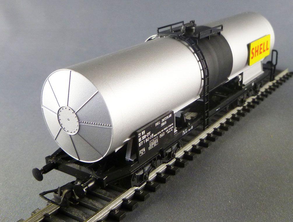Liliput 258 51 Ho Sbb Cff Tank Wagon with Bogie Shell Grey Livery Mint in Box