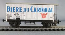 Liliput Ho Sbb Cff Wooden Fridge Wagon 2 axles Beer Bière du Cardinal Fribourg