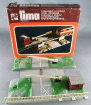 Lima 021 Ho Sncf Manual Level Crossingwith Brown Box