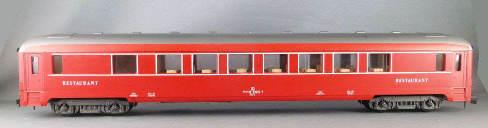 Lima 6671 0 Gauge Sncf Restaurant Coach Red Capitole Livery Near Mint in Box