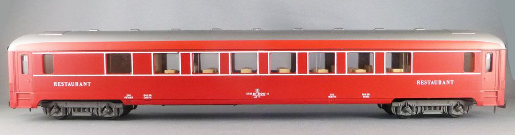 Lima 6671 0 Gauge Sncf Restaurant Coach Red Capitole Livery VG with Box