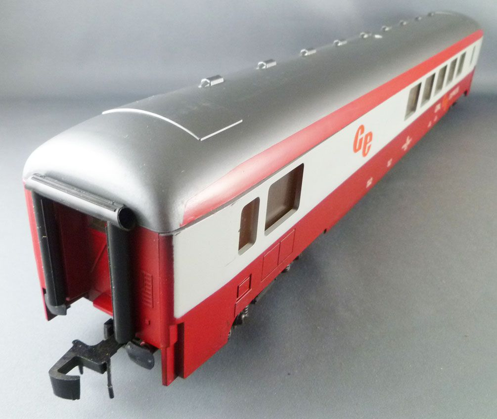 Lima 6672 0 Gauge Sncf Restaurant Coach Grill Express Red & Grey Livery VG with Box