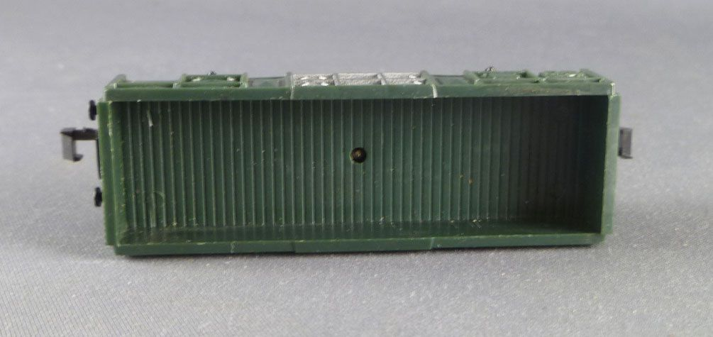 Lima 727 N Scale Sncf Tombereau Wagon 2 Axles Green Livery
