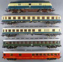 Lima Ho Db Rame Grande Ligne Loco Diesel BR 221 103-2 + 4 Voitures Aménagées