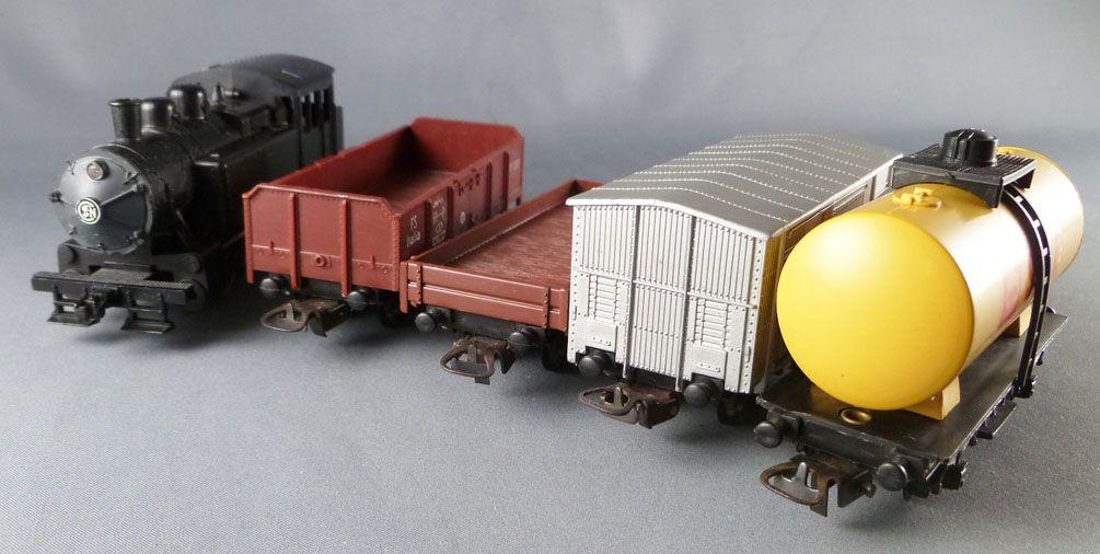 Lima Ho Fs Inter Europe Goods Train Set Steam Loco 0-4-0 + 4 Wagons + 10 Curved Tracks