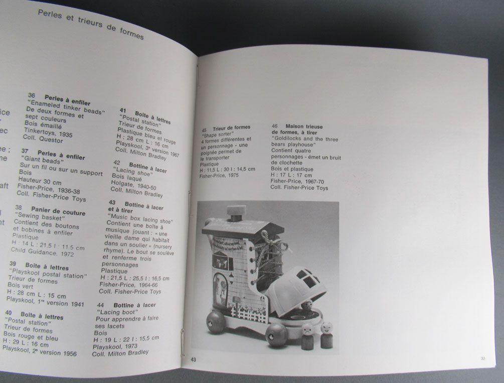 Livre Catalogue Expo 1977 Jouets Américains 1925-1975 + Invit & Lettre Fisher-Price