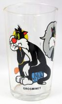 Looney Tunes - Amora Mustard Glass - Tweety & Sylvester : daydreaming