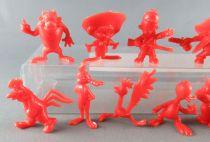 Looney Tunes - Figurine Prémium Monochrome GF - Série Complète 20 Pièces (Rouge)