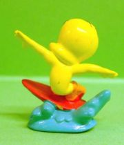 Looney Tunes - Mini PVC Figure 1999 - Tweety Surfer